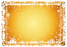 Fondo de oro de la Navidad Stock de ilustración