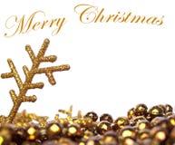 Fondo de oro de la Navidad Imagenes de archivo