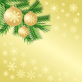 Fondo de oro de la Navidad Fotos de archivo libres de regalías