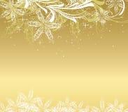 Fondo de oro de la Navidad Imagen de archivo libre de regalías