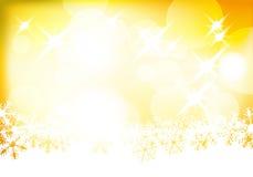 Fondo de oro de la Navidad del vector Imagen de archivo libre de regalías