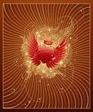 Fondo de oro de la tarjeta del día de San Valentín Fotografía de archivo libre de regalías