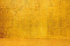 Fondo de oro de la teja Imagen de archivo libre de regalías