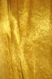 Fondo de oro de la tela Imagen de archivo libre de regalías