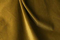 Fondo de oro de la tela del terciopelo, terciopelo, moer, efecto de la cachemira Fotografía de archivo