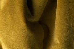 Fondo de oro de la tela del terciopelo, terciopelo, moer, efecto de la cachemira Imagenes de archivo
