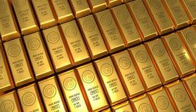 Fondo de oro de las barras Foto de archivo libre de regalías