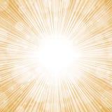 Fondo de oro de las luces Imagen de archivo libre de regalías