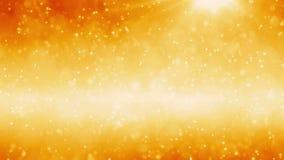 Fondo de oro de las partículas stock de ilustración