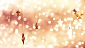 Fondo de oro de Loopable del Año Nuevo almacen de metraje de vídeo