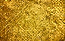 Fondo de oro de los azulejos Fotos de archivo