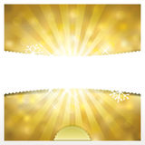 Fondo de oro de los días de fiesta Imagen de archivo libre de regalías