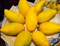 Fondo de oro de los mangos Foto de archivo libre de regalías