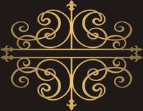 Fondo de oro de los ornamentos Imagen de archivo libre de regalías