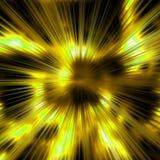 Fondo de oro de los rayos Imágenes de archivo libres de regalías