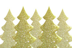 Fondo de oro del árbol de navidad Imágenes de archivo libres de regalías