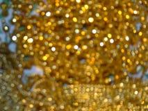 Fondo de oro del bokeh Foto de archivo