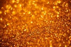 Fondo de oro del bokeh del brillo Foto de archivo