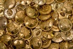 Fondo de oro del botón Imágenes de archivo libres de regalías