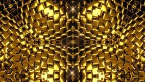 Fondo de oro del caleidoscopio almacen de video