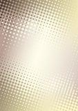 Fondo de oro del cartel de los puntos ilustración del vector