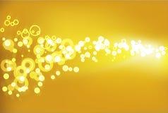 Fondo de oro del champán stock de ilustración
