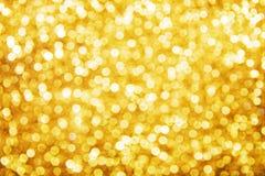 Fondo de oro del día de fiesta Imagen de archivo libre de regalías