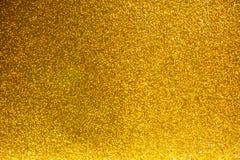 Fondo de oro del extracto de la Navidad del brillo Fotos de archivo