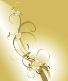 Fondo de oro del flor Fotografía de archivo libre de regalías