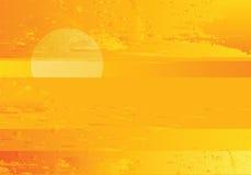Fondo de oro del grunge del mar abstracto de la puesta del sol stock de ilustración