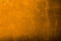 Fondo de oro del metal Foto de archivo libre de regalías