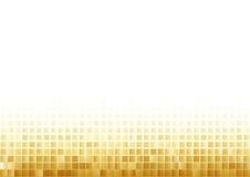 Fondo de oro del mosaico Imágenes de archivo libres de regalías