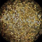 Fondo de oro del mosaico de la bola de discoteca Fotografía de archivo libre de regalías