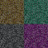 Fondo de oro del mosaico del vector ilustración del vector