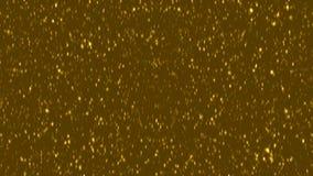 Fondo de oro del polvo Las partículas de oro sacan el polvo del fondo de la animación libre illustration