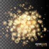 Fondo de oro del vector de las luces Fotos de archivo libres de regalías