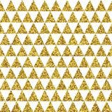 Fondo de oro del vector de los triángulos Fotos de archivo