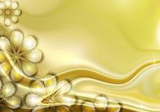 Fondo de oro de la flor stock de ilustración