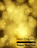 Fondo de oro de la Navidad ilustración del vector
