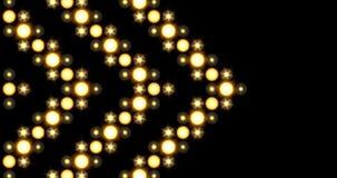Fondo de oro de las luces LED del modelo de la flecha que se mueve de lado stock de ilustración