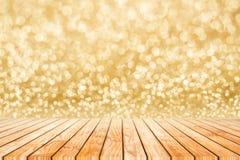 Fondo de oro o del extracto del bokeh de la falta de definición de la Feliz Año Nuevo Foto de archivo