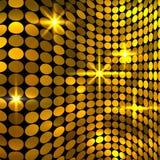 Fondo de oro ondulado del mosaico Foto de archivo