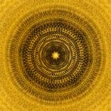 Fondo de oro ornamental con diseño y concepto de lujo de la elegancia Fotos de archivo