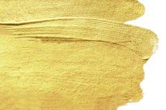 Fondo de oro pintado a mano abstracto de la mancha del oro Acuarela M Fotografía de archivo libre de regalías