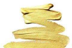 Fondo de oro pintado a mano abstracto de la mancha del oro Acuarela M Foto de archivo