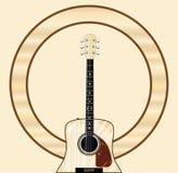 Fondo de Pale Acoustic Guitar Event Poster Libre Illustration