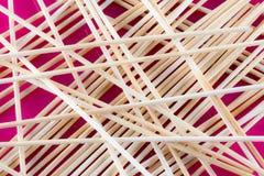 Fondo de palillos de madera Foto de archivo libre de regalías