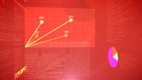 Fondo de pantalla del gráfico de la bolsa de acción Imagen de archivo libre de regalías