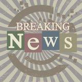 Pantalla de las noticias de última hora Foto de archivo libre de regalías