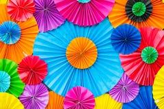 Fondo de papel colorido del arco iris abstracto del papel pintado Fotografía de archivo libre de regalías